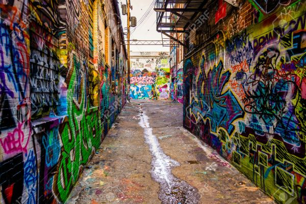 Graffiti Alley, in Baltimore, Maryland.